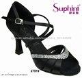 salón de baile latino zapatos de raso de cristal superior con zapatos de salón de baile de la práctica para las mujeres
