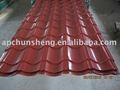 coloree la hoja acanalada revestida del material para techos