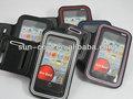de alta calidad tipo de raya solf cinturón elástico correr deporte brazalete caso cubierta para el iphone 5 5s 5g