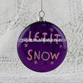 de color púrpura de cristal bola de embarcaciones para árbol de navidad decoraciones