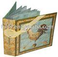 personalizado hoja de pvc para el álbum de fotos de papel reciclado de álbum de fotos