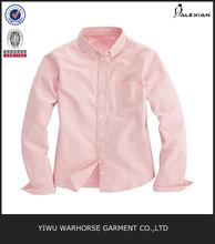 De color sólido 100% de algodón las señoras blusa de manga larga
