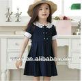 de verano rojo/negro doble- de algodón pecho ropa de niños de china al por mayor de la princesa niña vestido de primera comunión