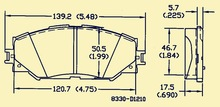 D1210/gdb3425/wva24336 toyota rv4/corolla de freno de cerámica esterasdecoches