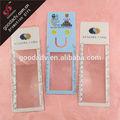 nuevos productos para 2013 personalizados baratos de plástico claro los marcadores de plástico para el regalo de la promoción