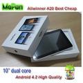 las tabletas androides baratos de la tableta de doble núcleo 10 a10 pulgadas mejor compra / mini-tableta de 10 pulgadas del allw