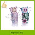 Porcelana taza de cerámica con calcomanía, blanco porcelana taza de café caliente de la venta