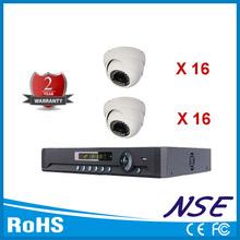 32 canal en tiempo real dvr h. El iphone 264 32 pcs ir-cut 1200 tvl cámara de seguridad interior del sistema dvr