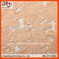 de moda de color naranja suizo de encaje bordado de tela