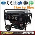 gasolina generador de arranque a control remoto 4kw 4 kva grupo electrógeno generador silencioso para la venta eléctrico