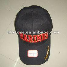 El bordado de encargo/imprimió los sombreros de los casquillos de los deportes personalizados con la hebilla del metal