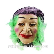 peruca verde realistas feminino máscaras de látex