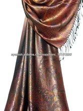 Diseño indio bufanda de seda