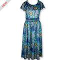 Vestido de una pieza ocasional de las mujeres en vestidos impresión floral largos veranos