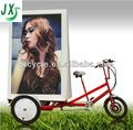 anuncio de la bicicleta triciclo de anuncios de publicidad en bicicleta con el certificado de led