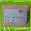 Grabación en relieve de pvc tarjeta de nombre diseño/en relieve de la tarjeta de negocios de servicios de impresión