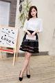 2014 shangyi los últimos diseños de camisetas para mujer t camisa de manga larga camisa de gasa con encaje