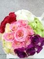 Wedding flores rosa, atacado de flores artificiais fabricados na china, flores falsificadas