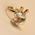 cristal de conejo anillo anillo de cristal
