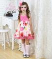 rosa apliques vestidos netos de flores niña, vestidos de los cabritos para bodas
