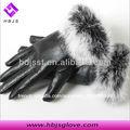 les femmes en cuir des gants en peau de mouton fourrure de lapin
