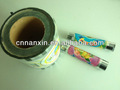 desenho de frutas coloridos de plástico do copo de vedação da tampa