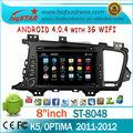Fábrica Android4.0.4 de DVD del coche para KIA con 3G WIFI PIP IPOD CD TV SAO bluetooth