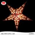 chino de estrellas de papel hecho a mano en diferentes estilos y colores
