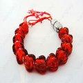 de san valentín corazón rojo en forma de brazalete intermitente