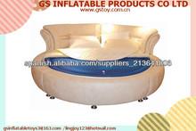 PVC inflable doble cama de agua redonda superior para la venta camas redondas EN71 aprobado
