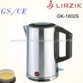 GK-1802Sa 1.8L 360 grados de rotación de acero inoxidable codless mantener caliente la taza eléctrica