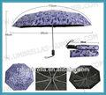 mango de goma plegable paraguas de protección uv