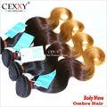 ombre color diferente extensión remy del pelo humano