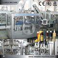 botella de vidrio de la máquina lavadora con 3 en 1 tecnología de llenado