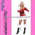 ML8038 Vestido de la Navidad de la venta caliente descarados del traje de santa de la mujer ceñida