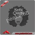 La venta de Top Custom Nueva Afro T-shirt original diseño Kinky Girl & Wedding Dress Ladies 2014 Crystal