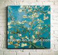 Van gogh zyp801 prunus imprimés toile peintures à l'huile/paysagematériel encadrée peinture imprimée