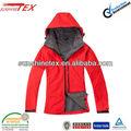 roja impermeable chaqueta softshell para las mujeres 2014