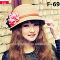 2014 nueva moda sombrero de paja cubo