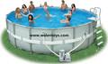Piscinas de plástico, piscina pvc, rodada, retangular