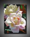de alta calidad de aceite de la pintura realista de loto