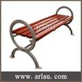 backless simples de madeira jardim bancada com pernas de ferro fundido fw22