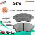 D476 Pastillas de freno para TOYOTA CAMRY/CELICA LEXUS