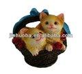 de dibujos animados de resina estatua de gato para la venta