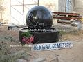 esfera de granito negro