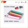 batería de giro e-cigarrillo Evod voltaje variable 2014 Evod giro