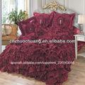 elegante llanura tejido a mano colchas de lujo