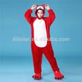 mais barato vermelho dos desenhos animados para adultos atacado pijamas de flanela