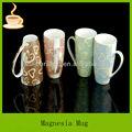 Café taza de cerámica baratos llanura blanca taza de café lj-3013