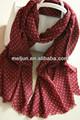 Fábrica ladies' nuevo diseño hecho a mano de la moda bufanda hecha a mano